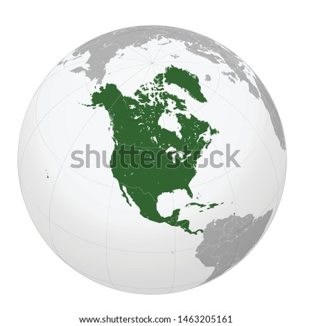 Earth North America icon. Vector illustration for web banner, web and mobile, infographics.