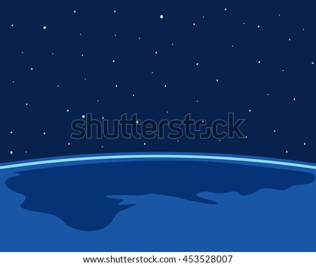 earth on space background