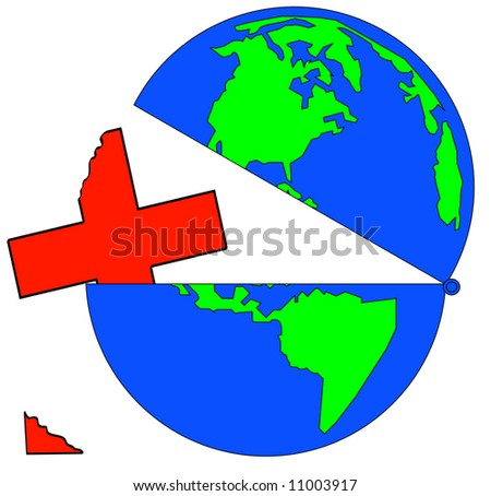 earth opened up with broken first aid symbol - vector - stock vector