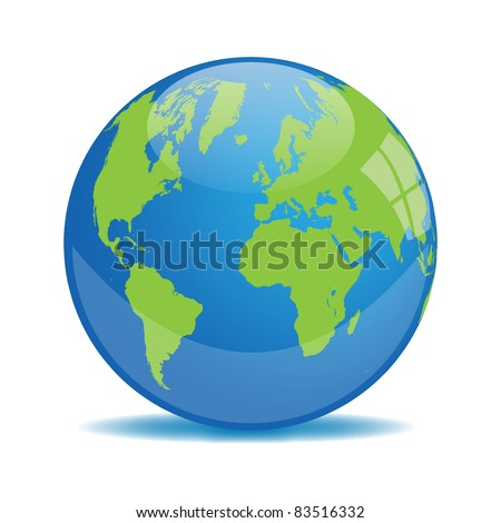 Earth Orb Vector - stock vector