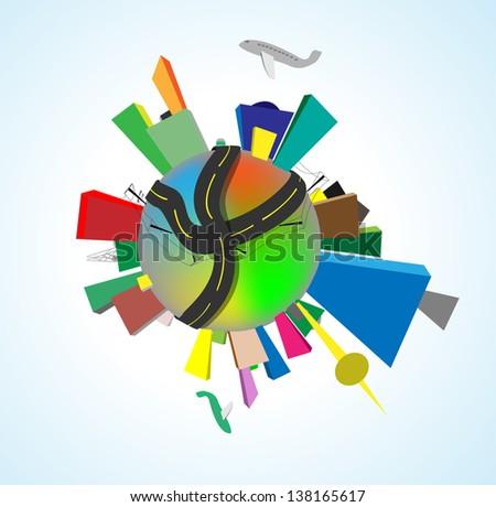 Earth perfect precise machine. World population, human impact