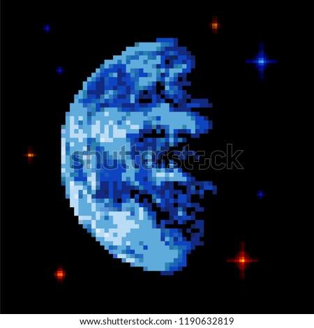 earth pixel art pixelated