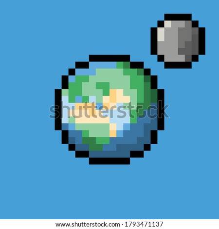 earth pixel art sprite for