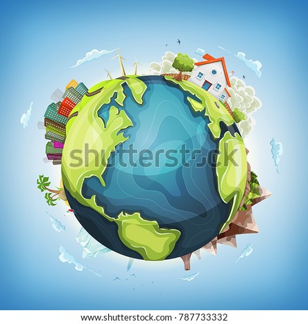 earth planet background with