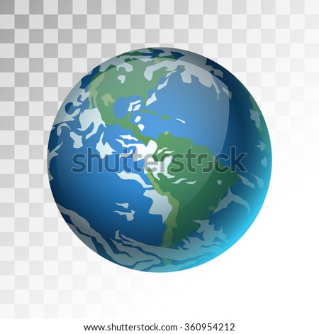 earth planet 3d vector