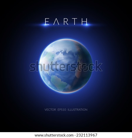 earth planet design concept