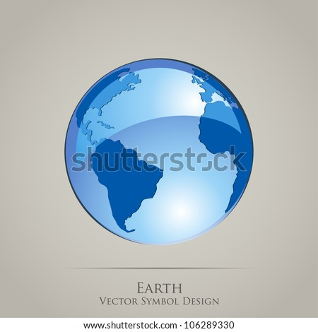 Earth Planet Globe Vector Icon - stock vector