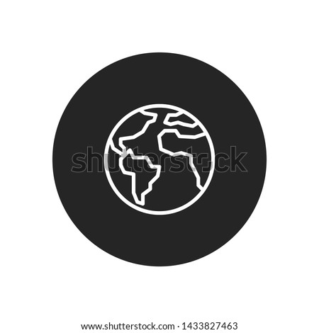 Earth planet icon vector. Simple earth planet sign in modern design style for web site and mobile app. EPS10
