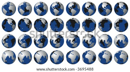 Earth rotation vector. Can be used to animate.