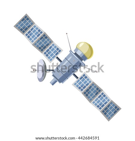 earth satellite sputnik icon in