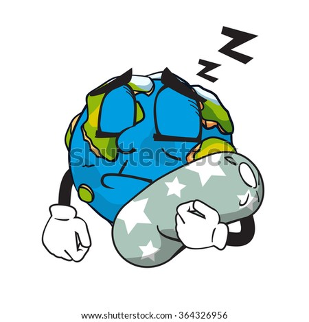 earth sleeping  vector art and