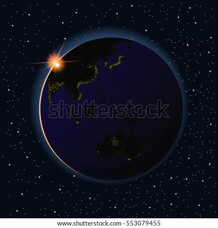 earth sunrise vector