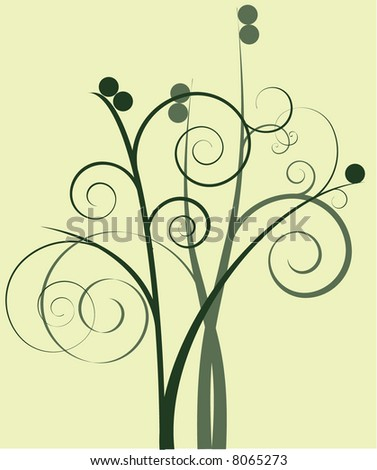 Earth-toned Spiral Floral
