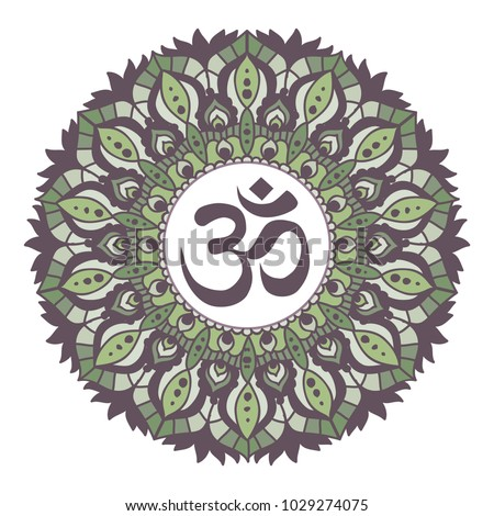 earth tones mandala with om