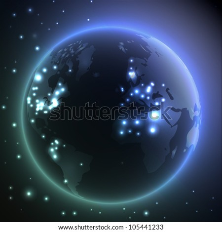 Earth - vector background