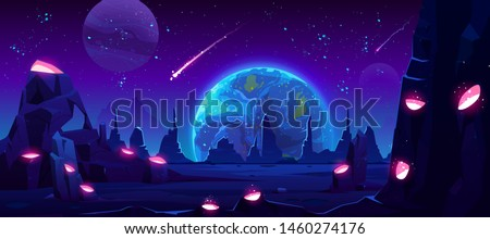 earth view at night from alien