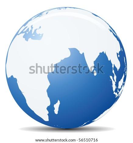 Earth web icon. Clip art collection.