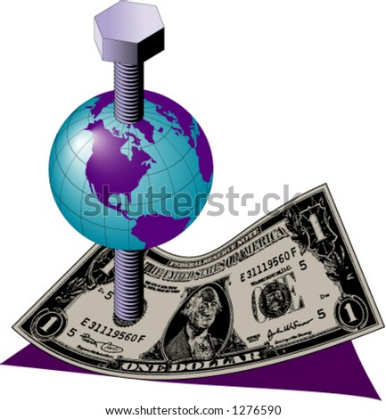 Earth with a Screw Through It on a Dollar