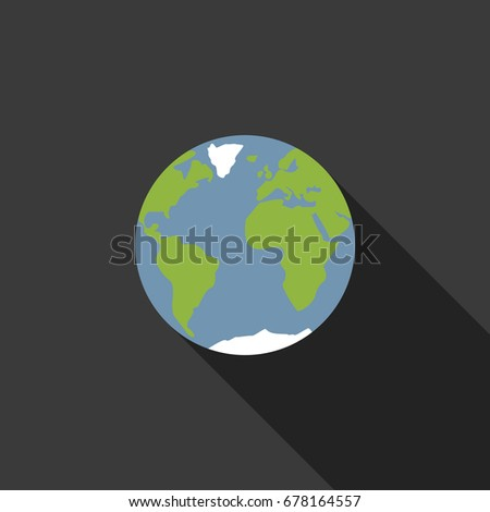 Earth with shadow on a black background. World.
