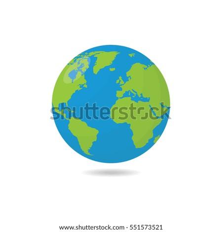 Earthor Globe Vector Illustration
