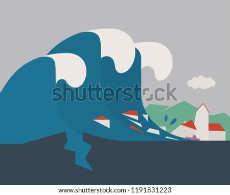 earthquake creates tsunami