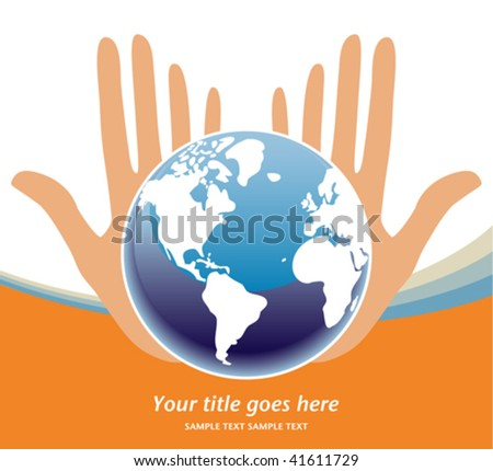 Earths future in our hands vector.