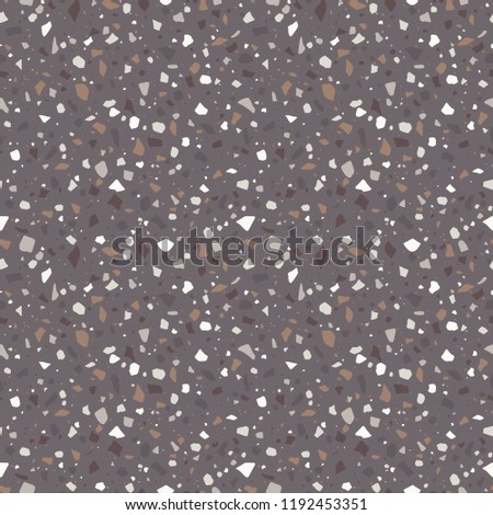 Earthy Terrazzo Seamless Pattern - Abstract Terrazzo design in earthy neutral colors