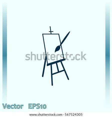 Easel vector icon