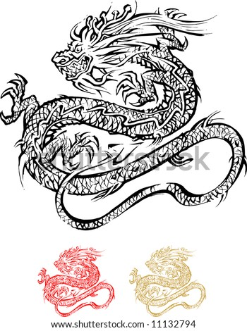 east dragon, tattoo. ancient
