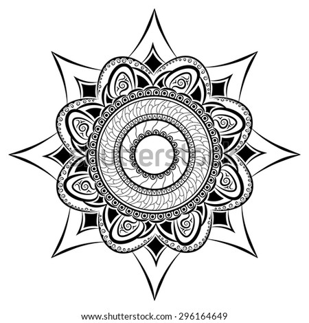 east ornament mandala tribal
