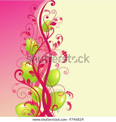 easter background  stock vector