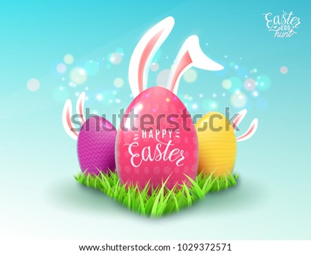easter background in realistic