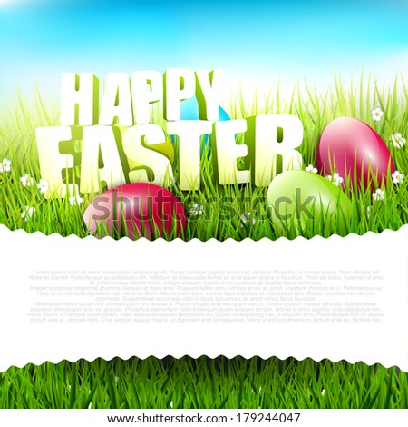 easter background with