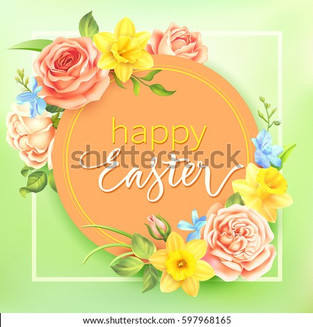easter background with round