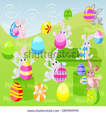 easter bunnies day before