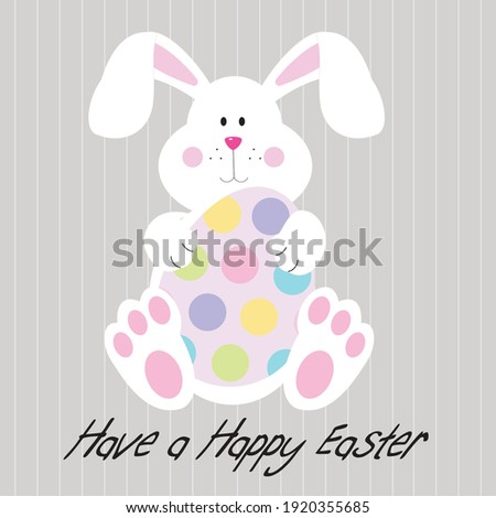 easter bunny and egg for easter