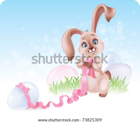 Easter Bunny at the Egg hunt