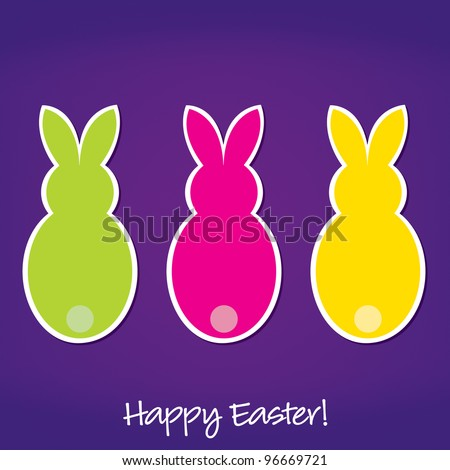 Easter Bunny card in vector format