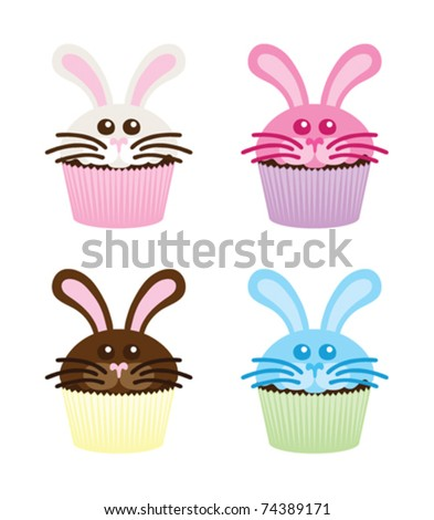 simple easter bunny cupcakes. how to make easter bunny