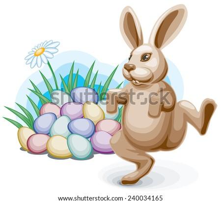 easter bunny dancing before