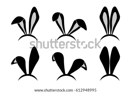 Bunny ears vector set download free vector art stock graphics easter bunny ears mask rabbit ear spring hat set isolated on white background vector maxwellsz