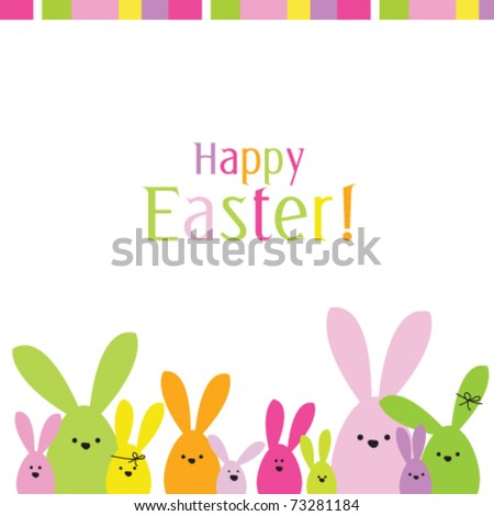 easter bunny. easter card with copy space