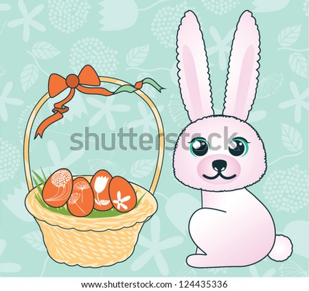 Easter bunny. Easter rabbit - stock vector