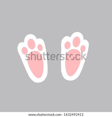 easter bunny foot shape illustration nursery