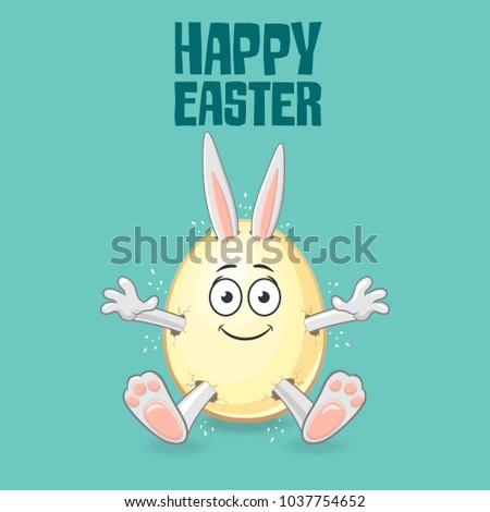 easter bunny get out of egg