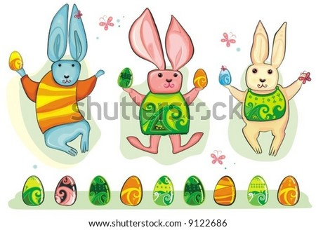 easter bunny cartoon clip art. unnyeggs Clip art,