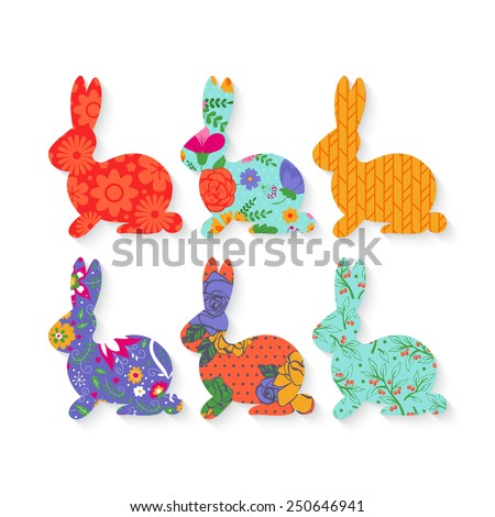 easter bunny silhouette with