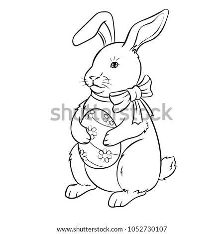 stock-vector-easter-bunny-with-egg-coloring-vector-illustration-isolated-image-on-white-background-comic-book