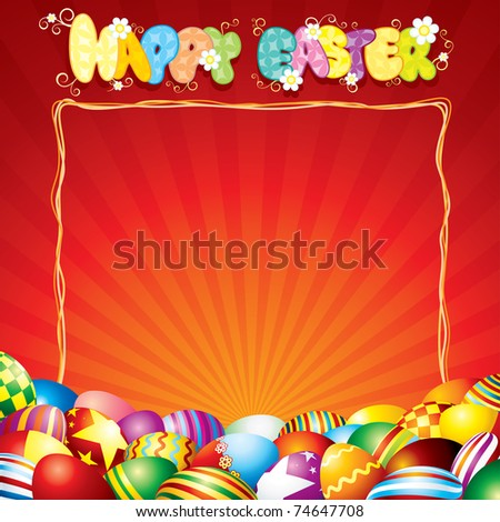 Easter Card Background - stock vector