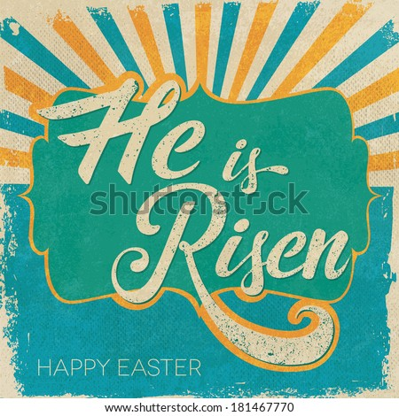 easter card he is risen text